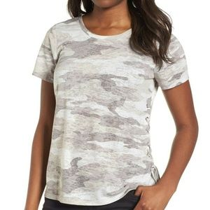Vince Camuto Avenue Side Tie Lace Up Tee Gray 699